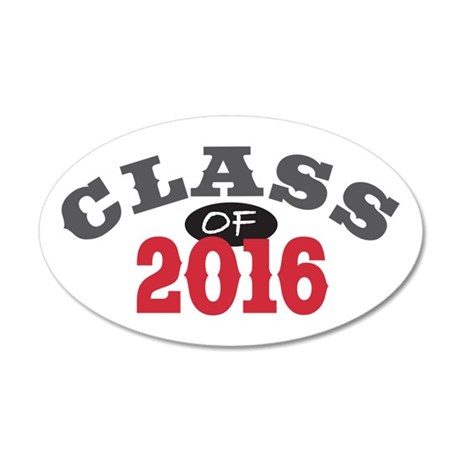 Class of 2016 20x12 Oval Wall Decal