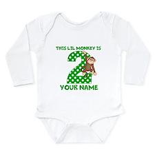 2nd Birthday Boy Monkey Long Sleeve Infant Bodysui