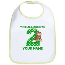 2nd Birthday Boy Monkey Bib