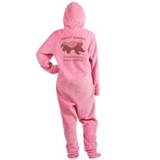 Personalize Honey Badger Footed Pajamas
