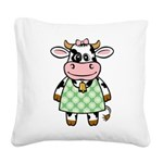 funny_cow.png Square Canvas Pillow