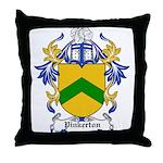 Pinkerton Coat of Arms Throw Pillow