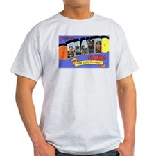 Orlando Florida Greetings (Front) Ash Grey T-Shirt