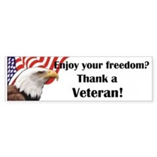 Thank a Veteran Bumper Car Sticker