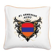 n1_armenian_aunt.png Square Canvas Pillow