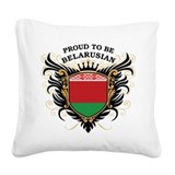 proud_belarusian.png Square Canvas Pillow