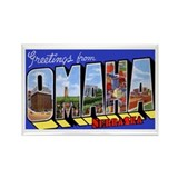 Omaha Nebraska Greetings Rectangle Magnet