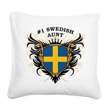 n1_swedish_aunt.png Square Canvas Pillow