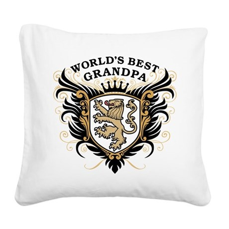 worlds_best_grandpa.png Square Canvas Pillow