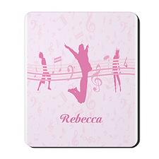 Personalized Music Dance and Drama Pink Mousepad