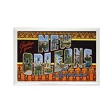 New Orleans Louisiana Greetings Rectangle Magnet