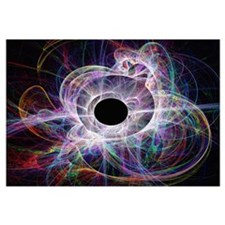 Conceptual computer artwork of a black hole
