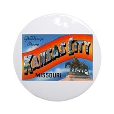 Kansas City Missouri Greetings Ornament (Round)