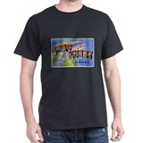 Fort Myers Florida Greetings (Front) Black T-Shirt