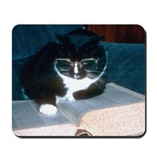 Cat reading Mouse pad