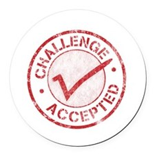 Challenge-Accepted-Round.gif Round Car Magnet