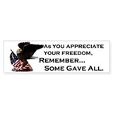 Some Gave All Bumper Car Sticker
