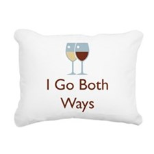I go both ways.png Rectangular Canvas Pillow