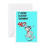 Belvedere Turning 40 Greeting Card