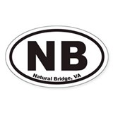 Natural Bridge NB Euro Oval Decal
