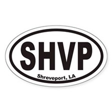 Shreveport SHVP Euro Oval Decal