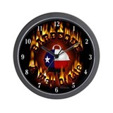 "TEXAS Barbeque 'Barbeque A Way Of Life"" Wall Clock"
