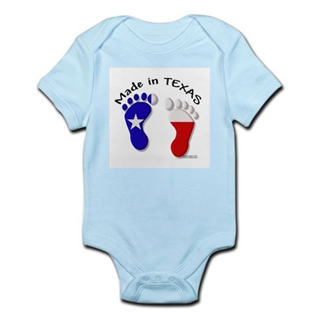 """""""Made In TEXAS"""" Baby Feet Infant Creeper"""