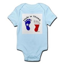 """Made In TEXAS"" Baby Feet Infant Creeper"
