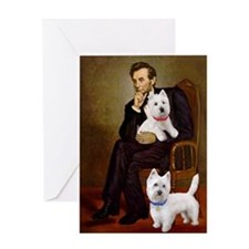 Lincoln-2Westies Greeting Card