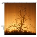Tree over water Shower Curtain