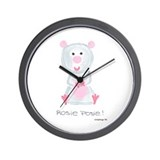 Rosie Posie Wall Clock
