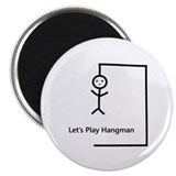 Let's Play Hangman Magnet