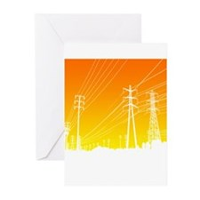 Power lines Greeting Cards (Pk of 20)