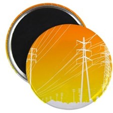"""Power lines 2.25"""" Magnet (100 pack)"""