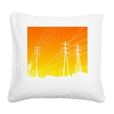 Power lines Square Canvas Pillow