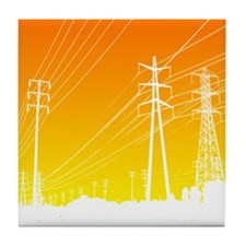 Power lines Tile Coaster
