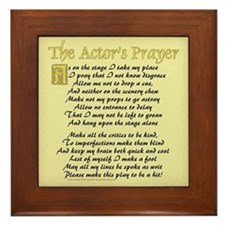 The Actor's Prayer Framed Tile