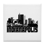 Indianapolis Skyline Tile Coaster