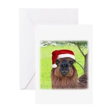 Cool Santa Alpaca Greeting Card