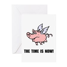 When Pigs Fly Greeting Cards (Pk of 10)