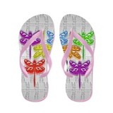 Dragonfly Shine Flip Flops