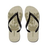 Carved Dragonflies Flip Flops