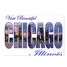 Cute Vintage chicago Postcards (Package of 8)