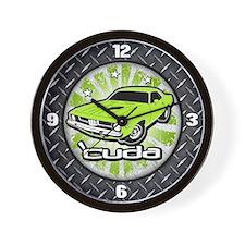 'Cuda - Sub Lime Wall Clock
