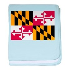 Maryland flag baby blanket