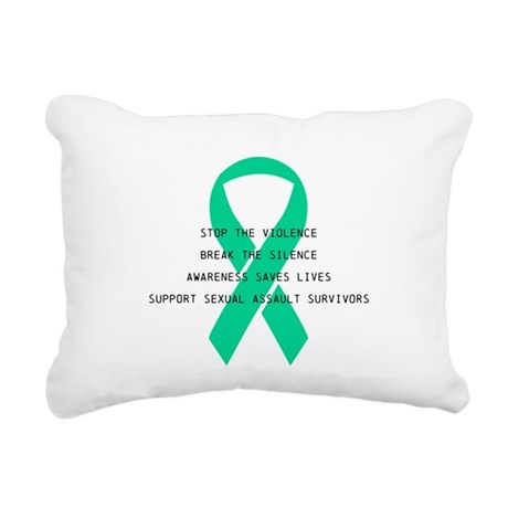 Stop the violence Rectangular Canvas Pillow