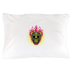 skull Dull Flames Pillow Case