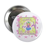 Little Ballerina 4th Birthday Button