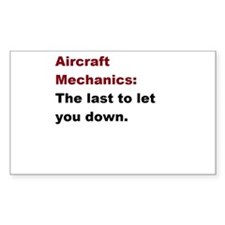 aircraft mech design 1 Decal