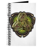 Green Celtic Triquetra Journal